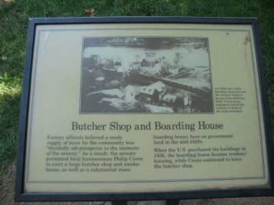 Butcher Shop and Boarding House Marker image. Click for full size.