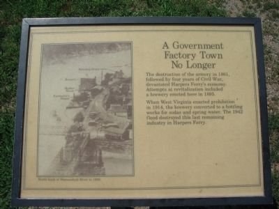 A Government Factory Town No Longer Marker image. Click for full size.