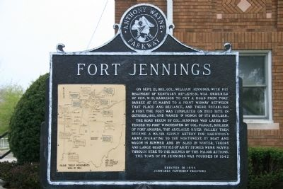 Fort Jennings Marker Photo, Click for full size