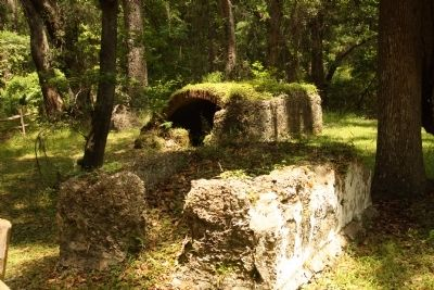 Frederica 's Old Burial ground Stone Tombs Photo, Click for full size