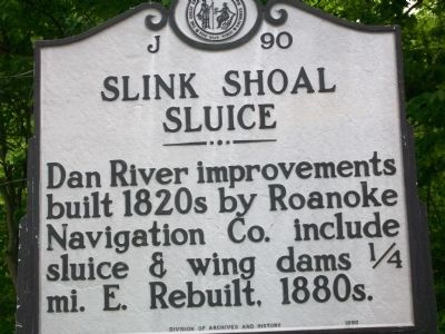 Slink Shoal Sluice Marker Photo, Click for full size
