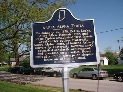 Side One - - Kappa Alpha Theta Marker image. Click for full size.