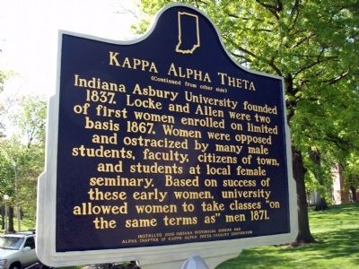 Side Two - - Kappa Alpha Theta Marker image. Click for full size.
