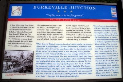 Burkeville Junction CWT Marker image. Click for full size.