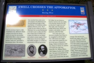 Ewell Crosses the Appomattox CWT Marker Photo, Click for full size
