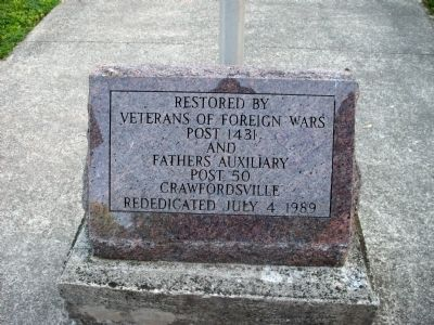 Restored & Rededication -  Stone Marker image. Click for full size.