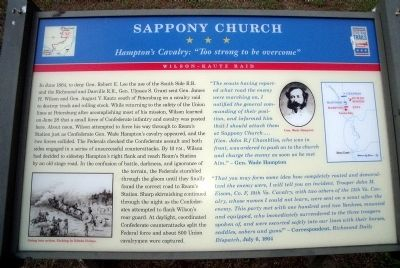 Sappony Church CWT Marker image. Click for full size.