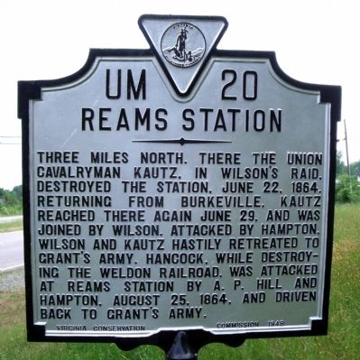 Reams Station Marker image. Click for full size.