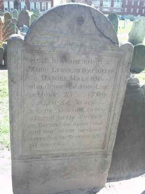 Grave of Capt. Daniel Malcom Photo, Click for full size