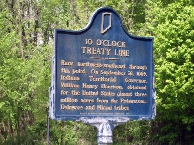 10 O'Clock Treaty Line Marker Photo, Click for full size