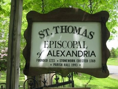 St. Thomas Episcopal of Alexandria Marker image. Click for full size.