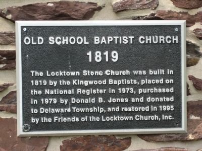 Old School Baptist Church Marker image. Click for full size.