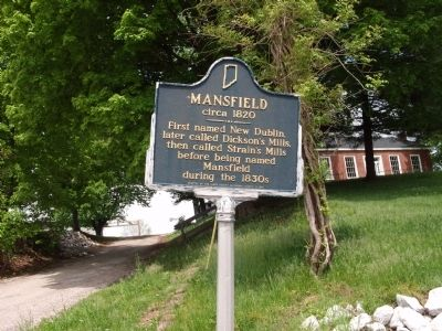 Long View - - Mansfield circa 1820 Marker image. Click for full size.