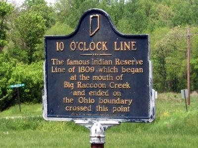 10 O'Clock Line Marker image. Click for full size.