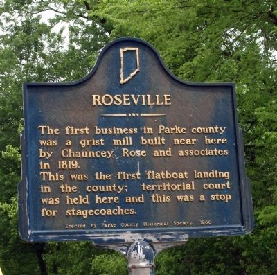 Roseville Marker image. Click for full size.