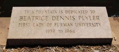 Beatrice Dennis Plyler Fountain Marker Photo, Click for full size