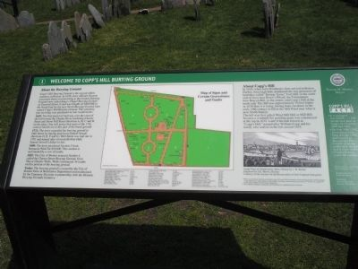 Welcome to Copp�s Hill Burying Ground Marker Photo, Click for full size