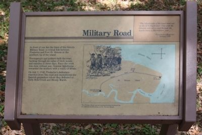Frederica - Military Road Marker image. Click for full size.