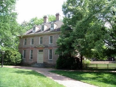 The Brafferton, built in 1723 to house the Indian School. image. Click for full size.