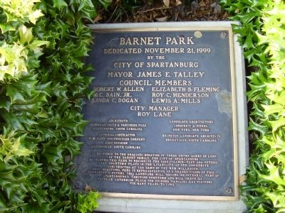 Barnet Park Marker Photo, Click for full size