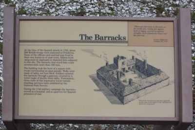 Frederica - The Barricks Marker image. Click for full size.