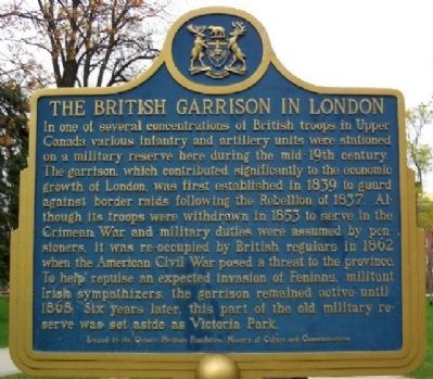 The British Garrison in London Marker image. Click for full size.