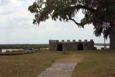 Frederica - tabby ruins of Citadel known as Fort Frederica Photo, Click for full size