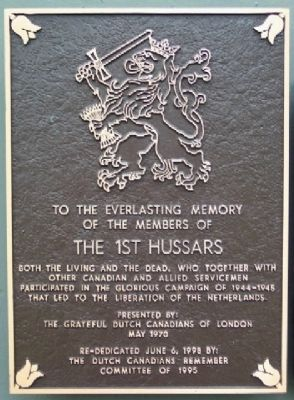 The 1st Hussars Marker Photo, Click for full size