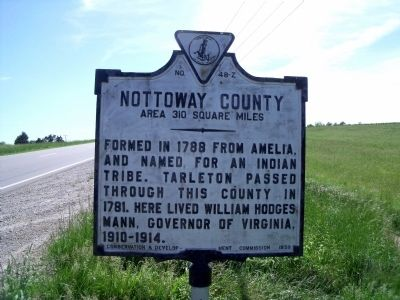 Nottoway County Marker image. Click for full size.