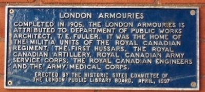 London Armouries Marker image. Click for full size.
