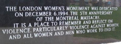 London Women's Monument Photo, Click for full size