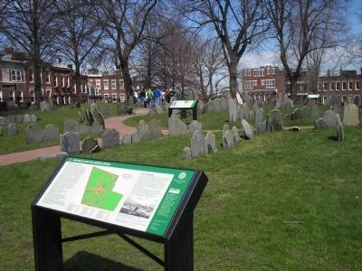 Markers in Copp's Hill Burying Ground image. Click for full size.