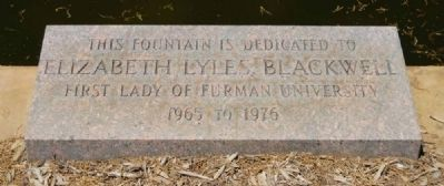 Elizabeth Lyles Blackwell Fountain Marker image. Click for full size.
