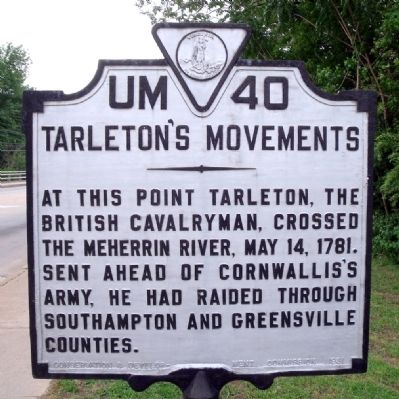 Tarleton's Movements Marker Photo, Click for full size