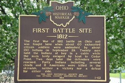 First Battle Site Marker image. Click for full size.