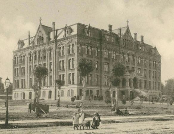 Saint Mary's College, circa 1892 image. Click for full size.