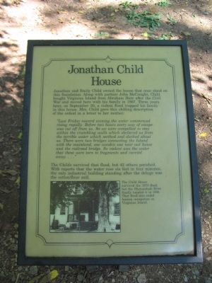 Jonathan Child House Marker image. Click for full size.