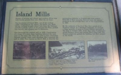 Island Mills Marker Photo, Click for full size