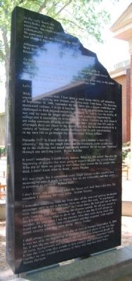 Furman Class of '05 09/11 Memorial - Left image. Click for full size.