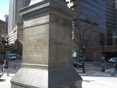 Back and Left Side of Monument Photo, Click for full size