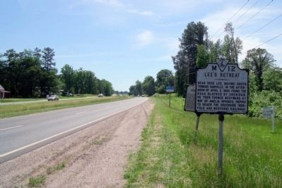 Lee's Retreat Markers on Patrick Henry Highway Photo, Click for full size