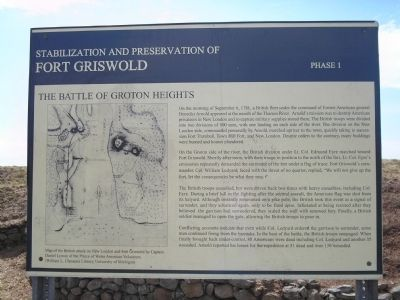 The Battle of Groton Heights Marker image. Click for full size.
