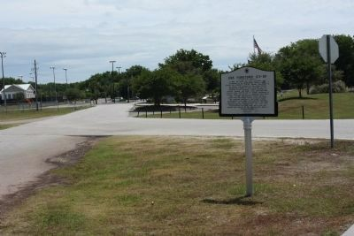 USS Yorktown (CV~10) Marker at Driveway for Athletic Fields. image. Click for full size.