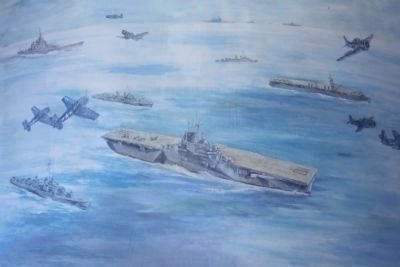 USS Yorktown Mural, located on hanger deck image. Click for full size.