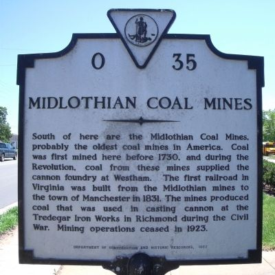 Midlothian Coal Mines Marker image. Click for full size.