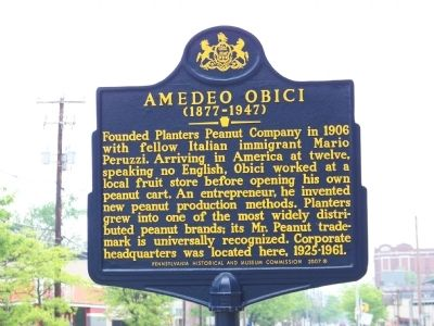 Amedeo Obici (1877-1947) Marker Photo, Click for full size