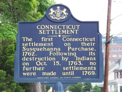 Connecticut Settlement Marker image. Click for full size.