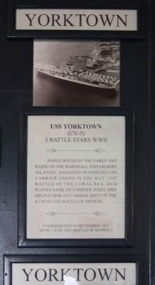 USS Yorktown (CV~5) Plaque image. Click for full size.