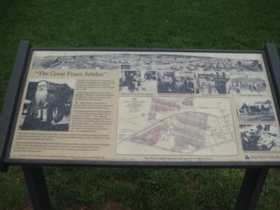 """The Great Peace Jubilee"" Marker Photo, Click for full size"