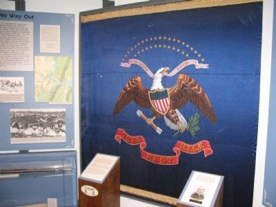 126th New York Regimental Flag Photo, Click for full size